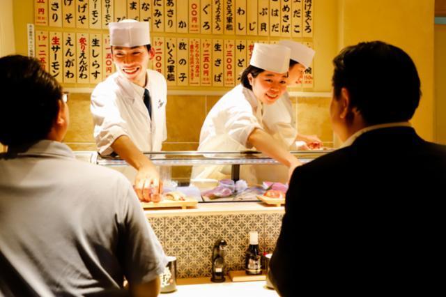 立食い寿司 魚がし日本一 京橋エドグラン店の画像・写真
